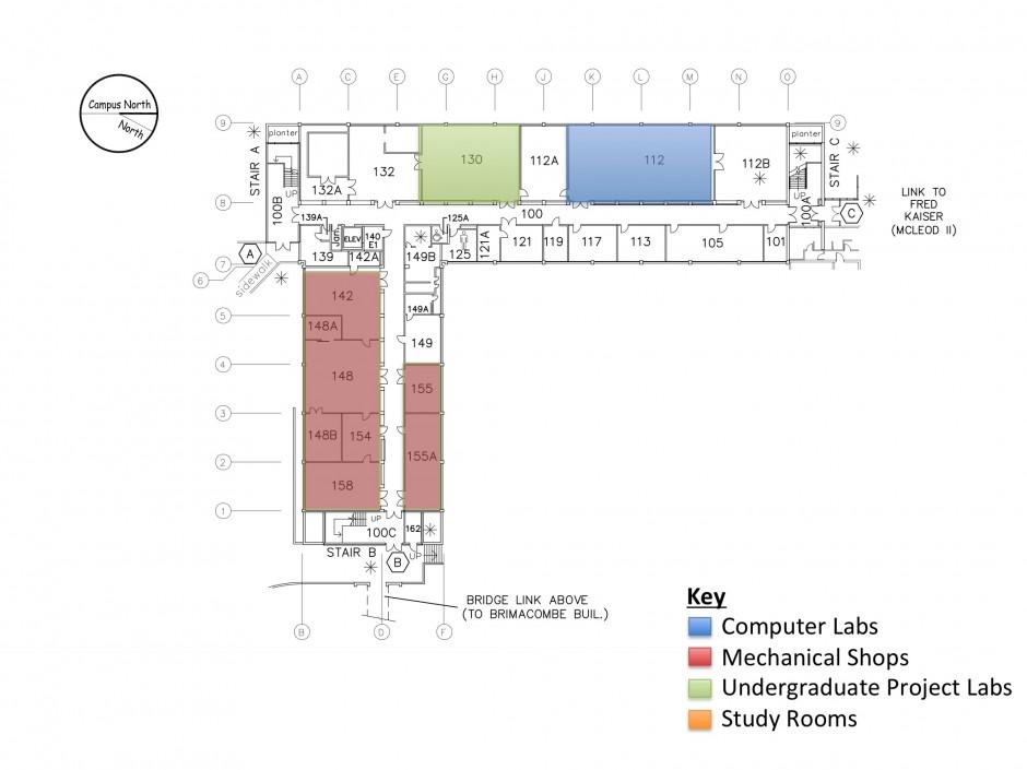 Facilities floor 1